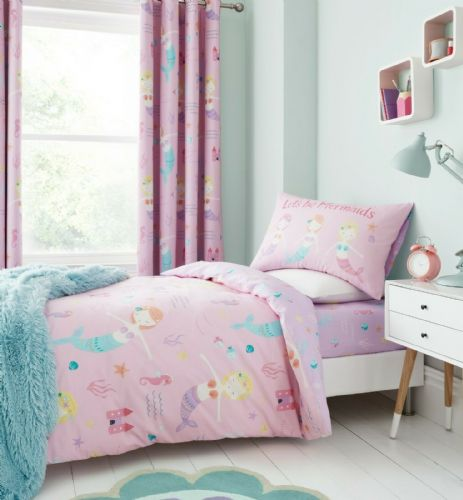Catherine Lansfield Let's Be Mermaids Pink Bedding Set